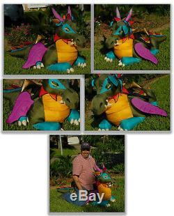 Manhattan Toy Co. Nor The GIANT Dragon Nylon Plush 57 Long VINTAGE 1996