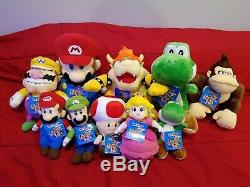 Mario Party 5 San-ei 2003 Complete Plush Set Lot Nintendo Hudson Soft
