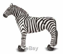 Melissa & Doug Zebra Plush Stuffed Animal 3 Foot Tall Huge Big New Toy 3x3 Zebra