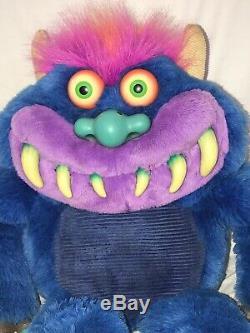My Pet Monster Vintage 1986 Talking Works Plush Amtoy Stuffed Animal 21