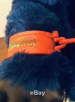 My Pet Monster Vintage Original Blue 1986 Plush Doll AmToy Handcuffed RARE