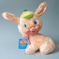 My Toy Rubber Face Bunny Rabbit Plush Pals Rushton Gund