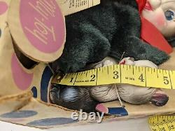 My toy co 1966 Plush Pals Skunk, Squirrel Rubber Face Rubber Squeak Toys