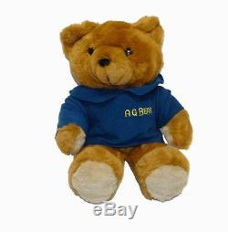 NEW 17 VINTAGE 1985 A. G. BROWN TEDDY BEAR STUFFED ANIMAL PLUSH TOY With VOICE BOX