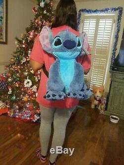 NEW Lilo & Stitch Disney Store Plush Backpack Blue One Of A Kind Hand Made