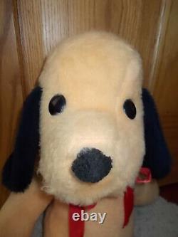 NICE! Vintage 1970's Animal Fair HENRY DOG 21 Plush Yellow Puppy Stuffed Toy