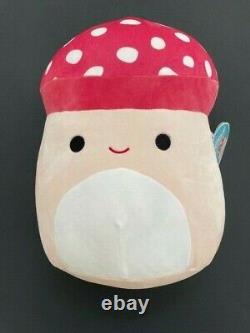 NWT New Rare htf Kellytoy Squishmallow 12 Exclusive plush Malcolm The Mushroom