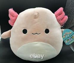NWT Squishmallows ARCHIE THE LIGHT PINK AXOLOTL VERY HARD TO FIND 12 PLUSH