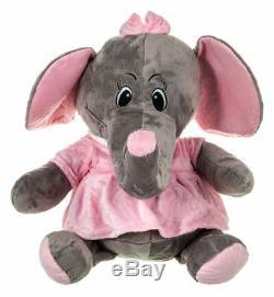 New 60cm XL Large Big Sot Plush Stuffed Grey Elephant Animal Toy Teddy Bear Play