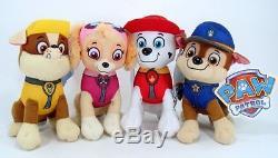 New 8 Paw Patrol Plush Stuffed Animal Toy Set Chase, Rubble, Marshall & Skye