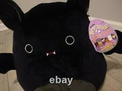 New Rare Squishmallow Halloween 16 Emily the Black Bat Soft Plush Holiday Gift