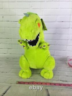 Nickelodeon 90's Rugrats Reptar Cartoon Green Plush Stuffed Backpack Bag NEW