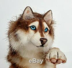 OOAK Siberian Wolf Husky Plush Artdoll
