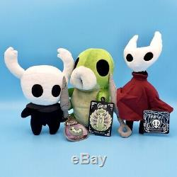 Official Hollow Knight Plush Bundle Set of 3 The Knight Hornet & Talking Grub