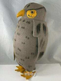 Owl withTag Agnes Brush Winnie the Pooh Stuffed Plush Animal Disney Antique Doll