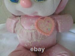 PJ Sparkles Sparklins Pink Bunny Rabbit Plush Doll Mattel Vintage Stars Pet 1989