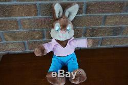 Plush Vintage 1980's Disney Splash Mountain BRER Rabbit Stuffed Animal Toy Doll