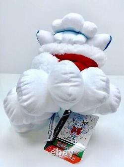 Pokemon Center Christmas Alolan Vulpix 7 Plush Stuffed Animal USA + Free Card