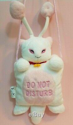RARE 2002 Neopets Aisha Plush Door Hanger White Cat Come In/ Do Not Disturb sign
