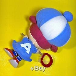 RARE 2005 Nintendo Animal Crossing Bug Girl Female Blue Plush Stuffed Doll Japan