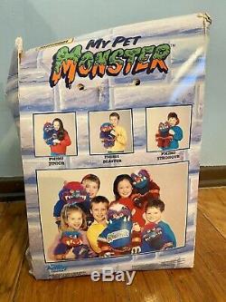 RARE My Pet Monster BEASTUR Plush Toy withOriginal Box and Orange Hand Cuffs