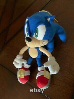 RARE VTG 12 Sonic X Plush Stuffed Doll Project Hedgehog GE Animation NO TAG