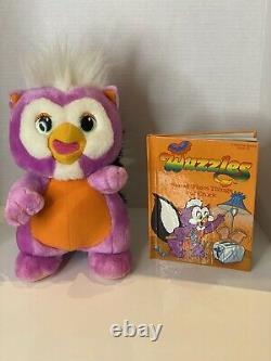 RARE Vintage Disney 1985 THE Wuzzles Skowl Owl Skunk Hasbro STUFFED ANIMAL Plush