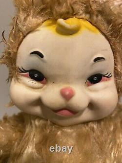 RARE Vintage Rubber Face Stuffed Plush Rushton Star Creation Bunny Rabbit 15