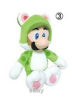 REAL Nintendo (1372) 10 Cat Luigi Stuffed Plush Doll Toy from Super Mario Bros