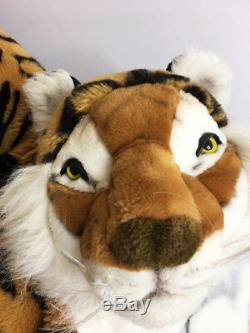Ramat Extra Large Lifelike 40 plus tail Stuffed Plush Tiger Made In Italy