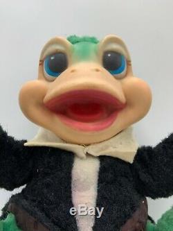 Rare 1950s RUSHTON Plush FROG Rubber Face Stuffed Animal Toy