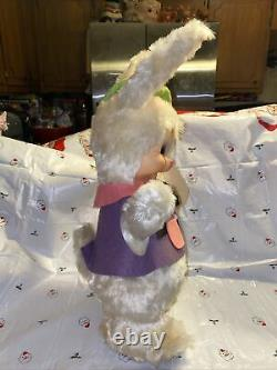 Rare Vintage Rushton Plush Bunny Rabbit With Rubber Face