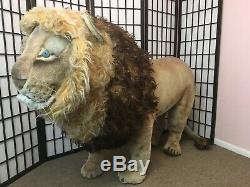 Rare! Vintage Steiff Studio Lion Oversized Plush Stuffed Animal Huge Movie Prop
