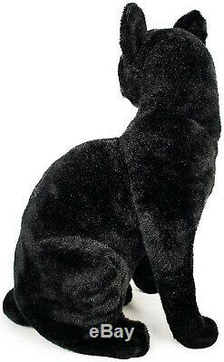 Realistic Black Cat Pet Soft Plush, Kids And Children Simulation Cuddly Doll Toy