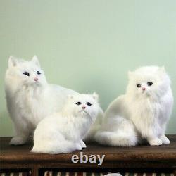 Realistic Persian Cat Pet Plush, Kids And Children Stuffed Animal Hard Toy Doll