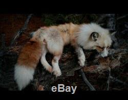 Red Platinum Whitemark Fox Soft Mount Taxidermy Plush Stuffed Animal