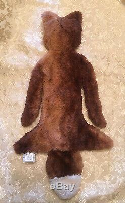 Red Slumberkins Silken Plush Fox Brown Lovey Luxe Baby Security Blanket