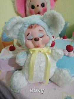 Rubber face plush doll crying bear squeaky (rushton style) 9