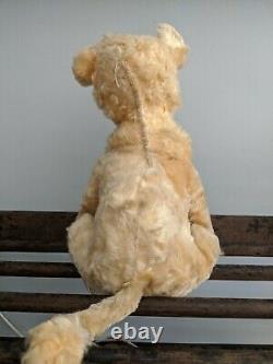 Rushton Lion Vintage Rubber Face Rare Vintage Plush