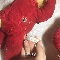 Rushton Rubber Face Pajama Yawn Bear And Bunny Vintage Midcentury Plush Toy