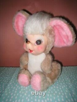 Rushton Rubber Face Plush Mouse Vintage Stuffed Animal