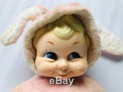 Rushton Star Creation Baby Doll Bunny Rabbit Plush Stuffed Animal Rubber Face