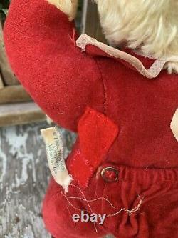 Rushton Star Creation Bear Rubber Face Plush RARE