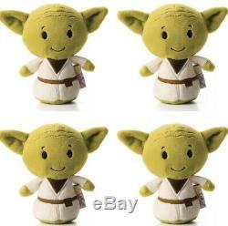 SET OF 4! Baby Yoda 4 Stars Wars The Mandalorian Itty Bitty Plush Stuffed Toy