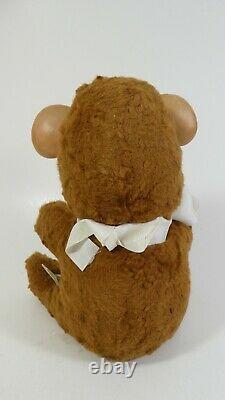 Sad Pouting Knickerbocker RUBBER FACE BEAR STRIPED SHIRT Plush Stuffed Animal