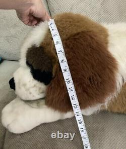 Saint St Bernard Jumbo Dog Plush Brown White Stuffed Large 52 Vintage