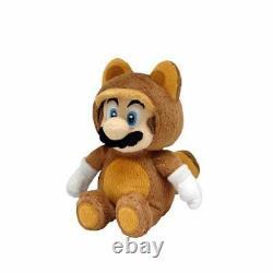 Sanei Nintendo Super Mario Bros 9 Tanooki Mario Stuffed Plush Toy Doll