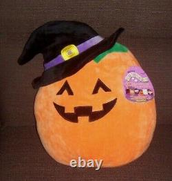 Set of 4 Squishmallows Halloween 12 Plush Vampire Bat Witch Pumpkin Kellytoy