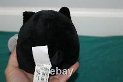 Skully the Skeleton Cat Squishmallow 4.5 NWT Black White Cute Rare HTF Plush