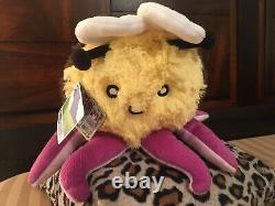 Squishable Bumblepus Mini RARE Bumble Bee Octopus Retired Plush 2015 Toy Stuffed